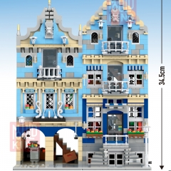 Mould King 16020 Creator Series Market Street Building Blocks 3016pcs Bricks Toys For Gift
