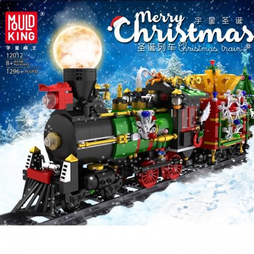 12012 Christmas Hot Style Christmas Train With Lights Electric Puzzle DIY Assembling Small Particle Building Block Toy Ship From China